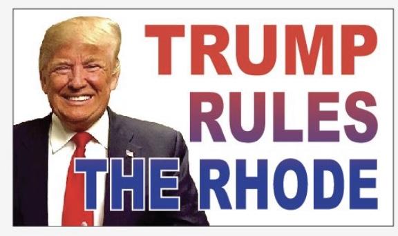 Get your original Rhode Island Trump magnets