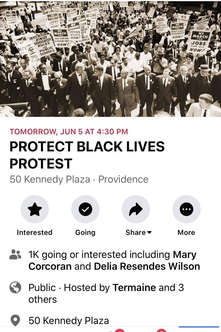Dan McGowan of the Boston Globe describes the protest