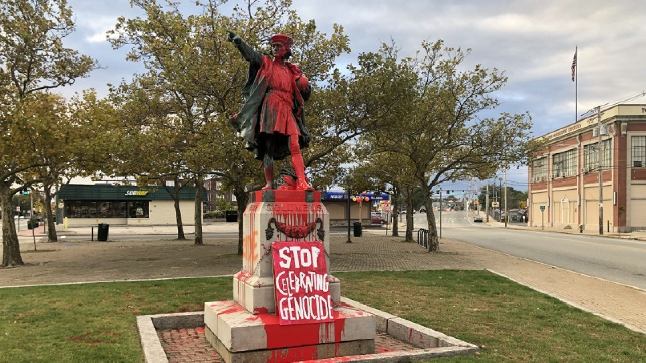 Video: the day protester violence forced the Columbus statue to come down