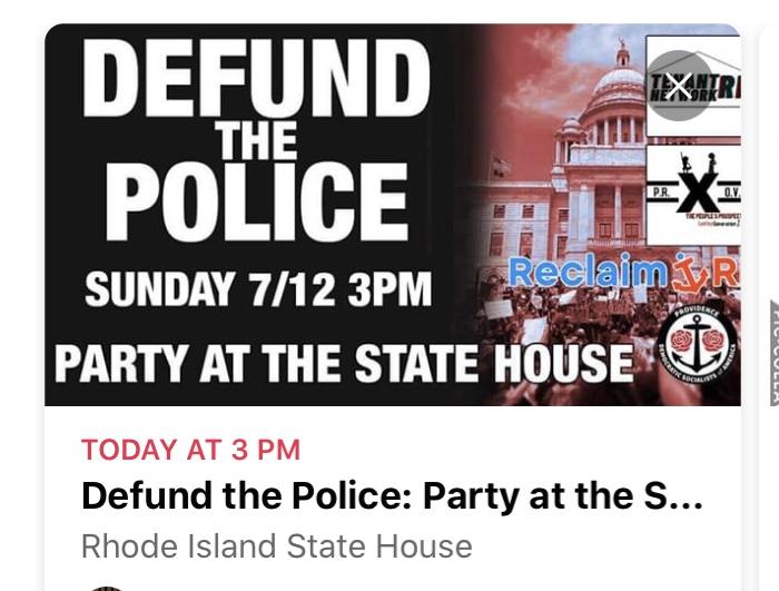 Video: Defund the police protesters outside home of Governor Raimondo