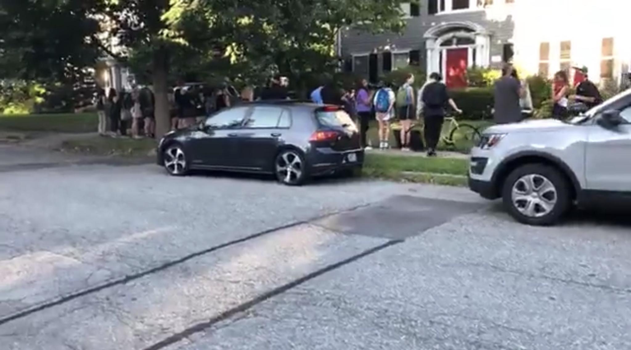 Video: Defund police protesters again at Raimondo house